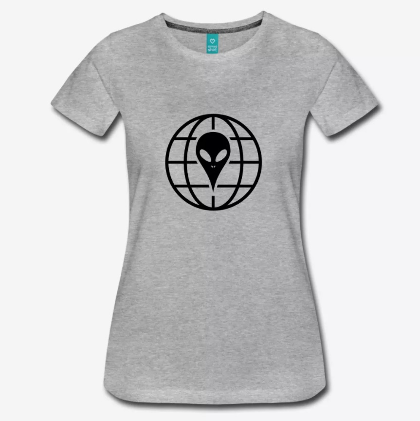 Coole Skater T-Shirts Skateboard Top 10 Alien