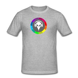 regenbogen-farben-alien-maenner-slim-fit-t-shirt