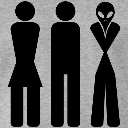 Woman man alien - women men aliens - guys, girls, aliens